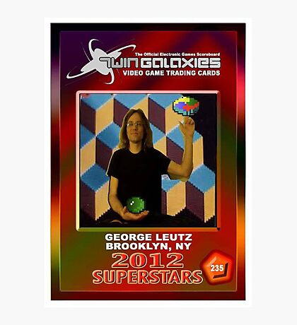 George Leutz Q*Bert Rookie Card Photographic Print