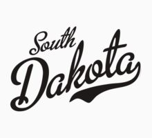 South Dakota Script Black Kids Clothes