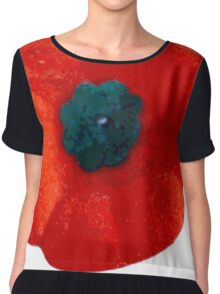 Lest we Forget - Remembrance Poppy Chiffon Top