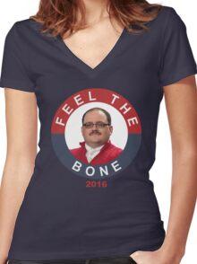 Ken Bone: Feel The Bone Women's Fitted V-Neck T-Shirt