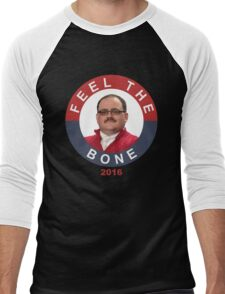 Ken Bone: Feel The Bone Men's Baseball ¾ T-Shirt