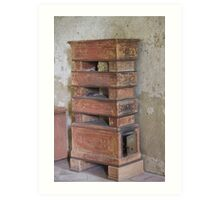 old brick stove Art Print