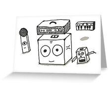 Cute Musical Equipment Greeting Card
