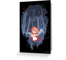 Little Red Fighting Hood Greeting Card