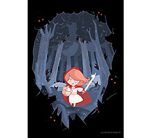 Little Red Fighting Hood Photographic Print