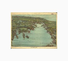 Vintage Pictorial Map of Buzzards Bay (1907) Unisex T-Shirt