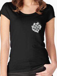 Guild Hunters Logo Splat White Women's Fitted Scoop T-Shirt