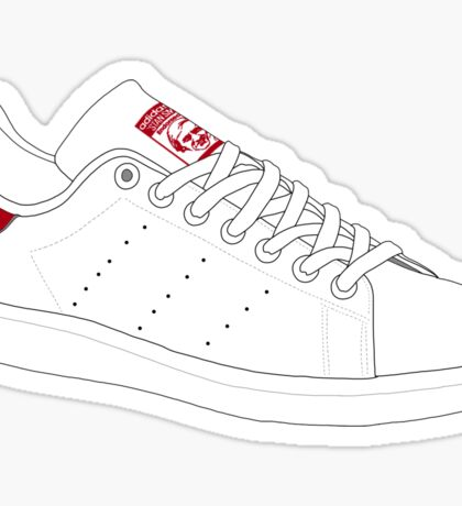 stan smith  illustration Red pair. Sticker
