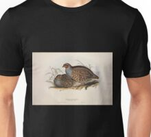 John Gould The Birds of Europe 1837 V1 V5 262 Common Partridge Unisex T-Shirt