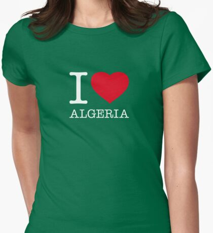 I ♥ ALGERIA Womens Fitted T-Shirt