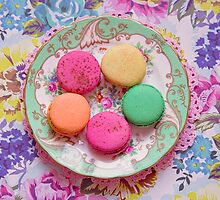 Pretty pastel macarons by Zoe Power