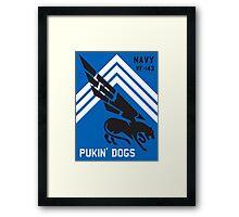 VF-143 Pukin Dogs Sans Reproache           Framed Print