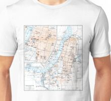 Vintage Map of Calcutta India (1914) Unisex T-Shirt