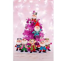 Ho, ho, ho from the seven dwarfs! Photographic Print