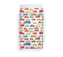 toy car pattern - automobile illustration Duvet Cover