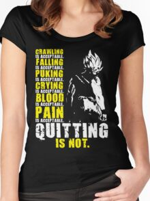 Quitting Is Not Acceptable (Saiyan) Women's Fitted Scoop T-Shirt