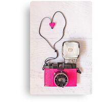 Camera love - Diana F+ lomography Canvas Print