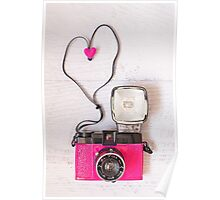 Camera love - Diana F+ lomography Poster