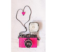 Camera love - Diana F+ lomography Photographic Print