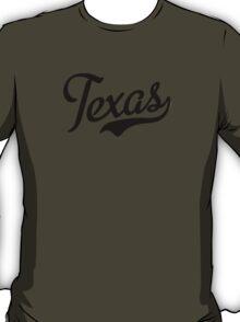 Texas Script Black T-Shirt