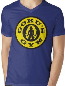 Goku's Gym (Round Gold's Gym Logo Parody) Mens V-Neck T-Shirt