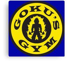 Goku's Gym (Round Gold's Gym Logo Parody) Canvas Print