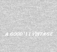 A Good '11 Vintage (White Writing on Dark T's) One Piece - Long Sleeve