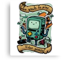 Who wants to play videogames? BMO Canvas Print