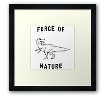 T-Rex Force of Nature Framed Print