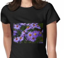 Purple Autumn Asters Womens Fitted T-Shirt