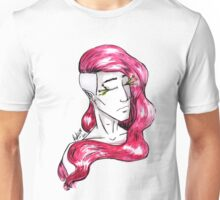 Flowing Red Hair Unisex T-Shirt