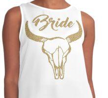 Gold longhorn bride bachelorette Contrast Tank