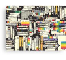 80´S VHS TAPES Canvas Print