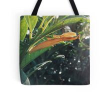 Brown Praying Mantis Sitting in the Foliage Horizontal Tote Bag