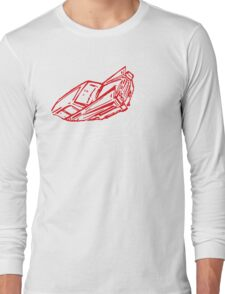 Car Down Long Sleeve T-Shirt