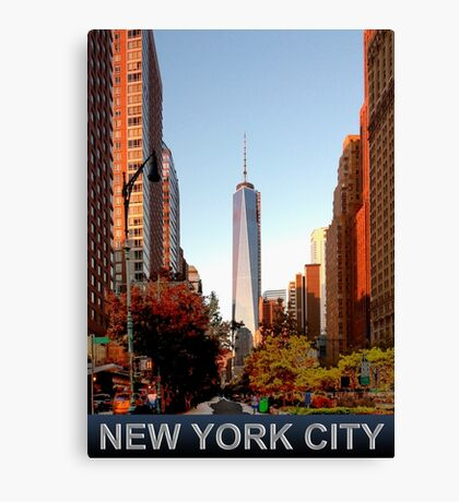 New York City freedom tower Canvas Print