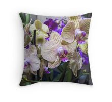 orchid in the garden Throw Pillow