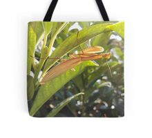 Brown Praying Mantis Sitting in the Foliage Vertical Tote Bag