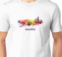Nantes skyline in watercolor Unisex T-Shirt