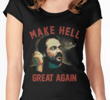 "Mark Sheppard ""Make Hell Great Again""  Women's Fitted Scoop T-Shirt"
