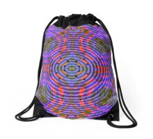 Funky in purple, blue and red Drawstring Bag