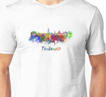 Toulouse skyline in watercolor Unisex T-Shirt