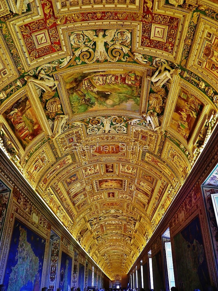 Vatican Map Room Ceiling by Stephen Burke