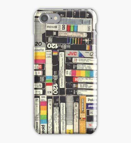 80´S VHS TAPES iPhone Case/Skin