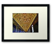 Vatican Room of Maps Ceiling Framed Print