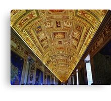 Vatican Room of Maps Ceiling Canvas Print
