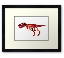 Trex Watercolor Painting Tyrannosaurus Skeleton Poster Indominus Dinosaur Framed Print