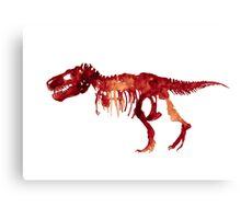 Trex Watercolor Painting Tyrannosaurus Skeleton Poster Indominus Dinosaur Canvas Print