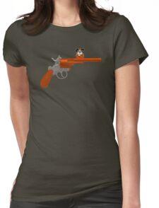 Duck Hunt gun Womens Fitted T-Shirt
