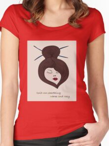Knit me something warm and cozy Women's Fitted Scoop T-Shirt
